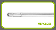 Mercedes cannula tip